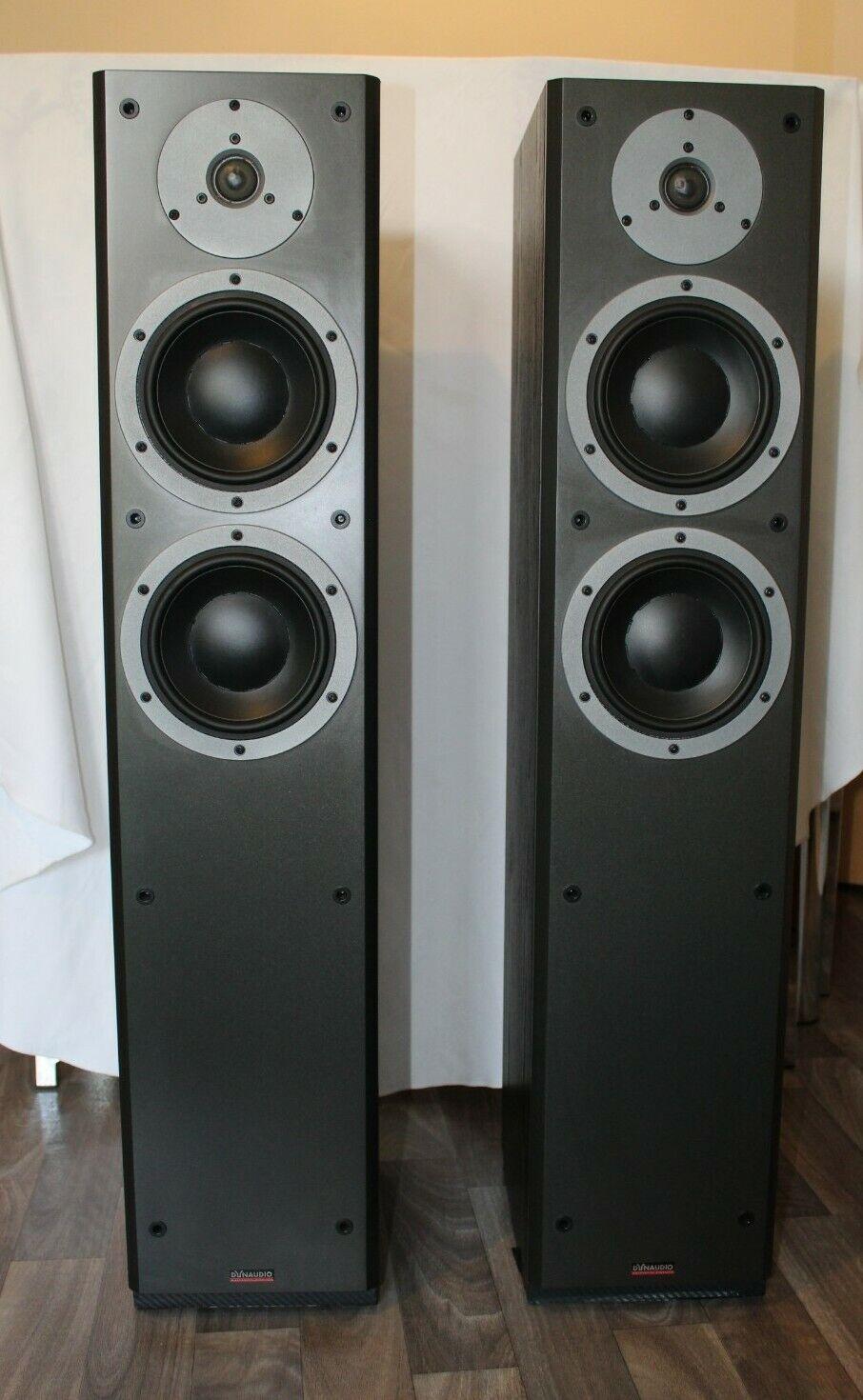 Dynaudio DM 3/7 Floorstanding Speakers Black - Made in Denmark