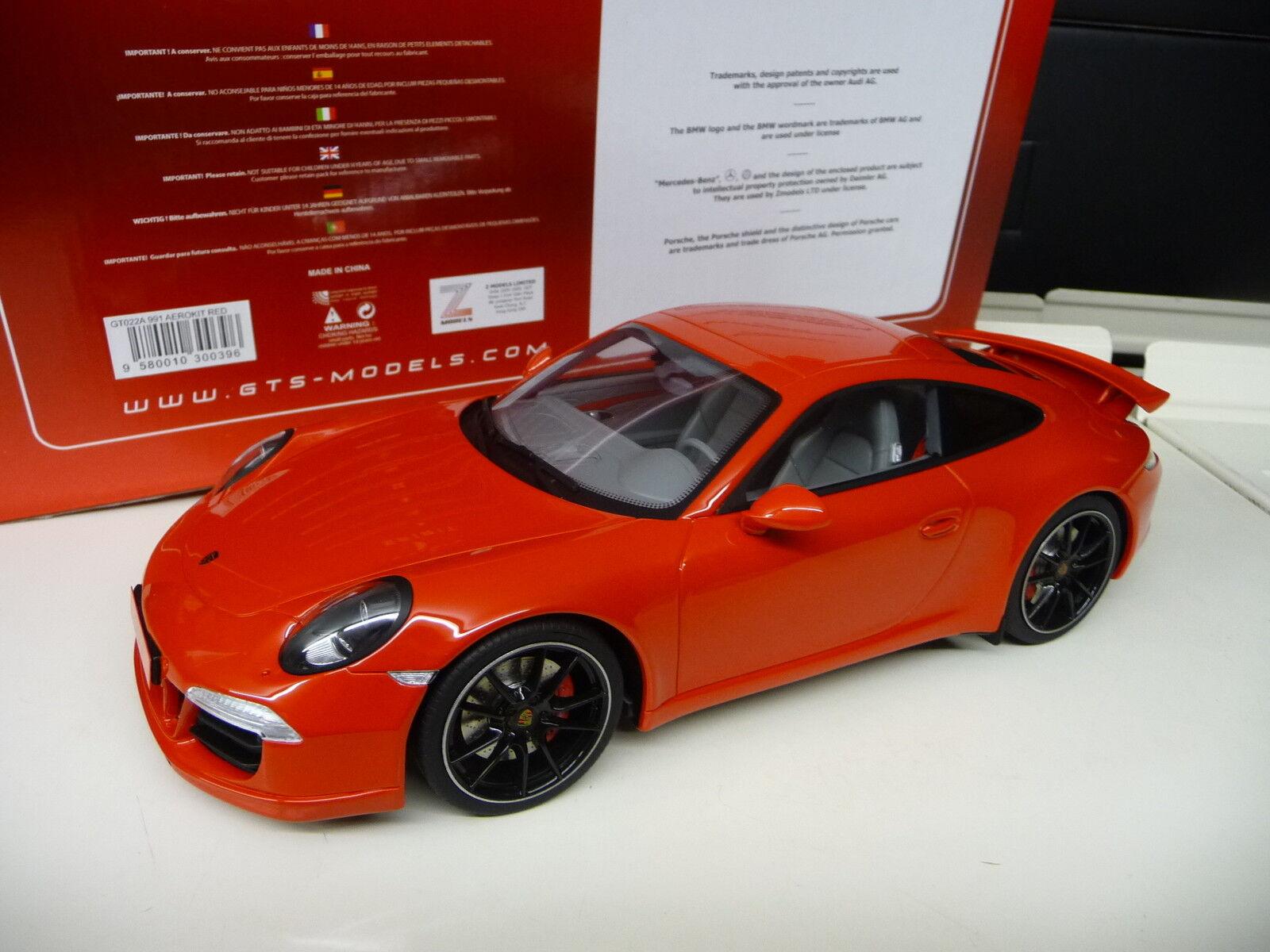 1:18 GT Spirit Porsche 911 991 Carrera S Exclusive GT Aerokit cup NEUF NEW | De Gagner Une Grande Admiration