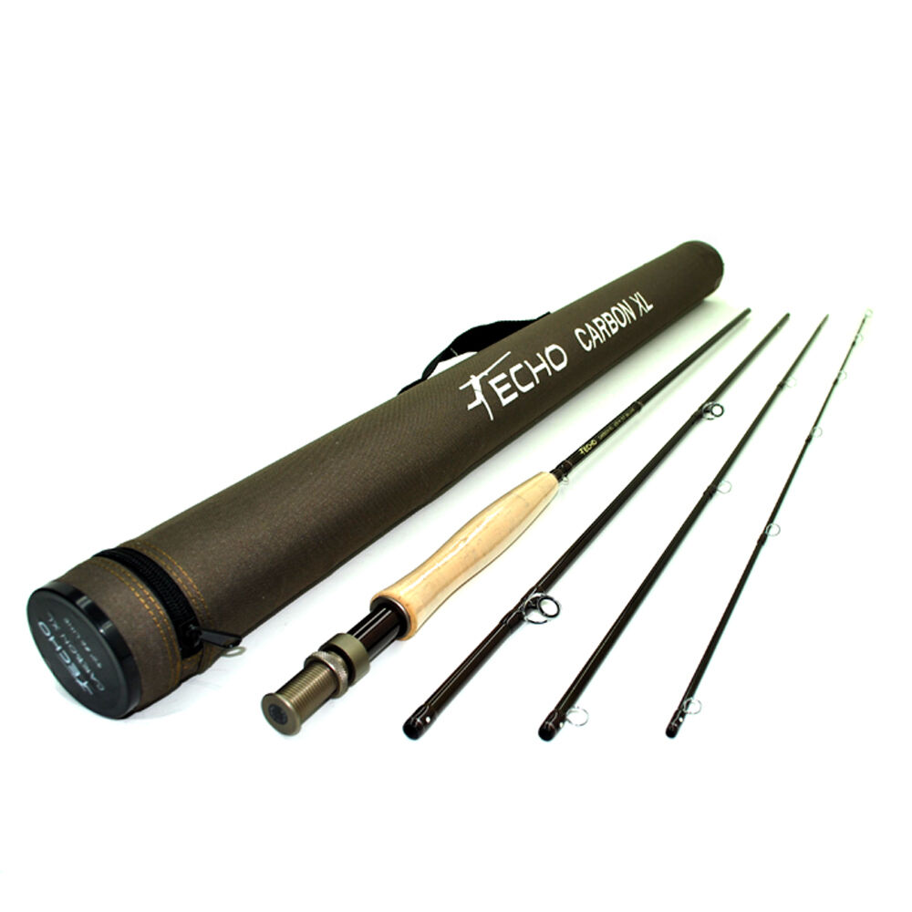 ECHO CARBON XL 490-4 9' FOOT  4 WEIGHT WEIGHT WEIGHT 4 PC FLY ROD + TUBE, FREE U.S. SHIPPING 50db15