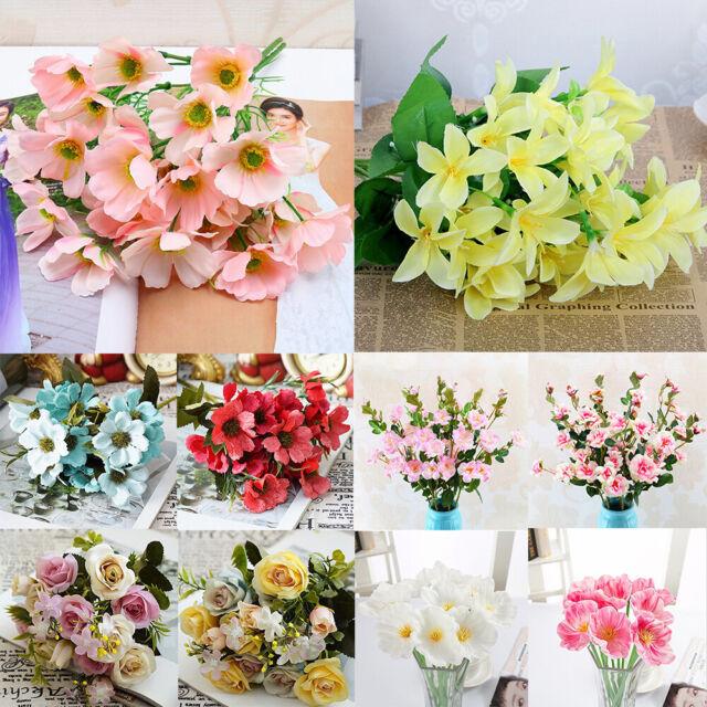 100 Mixing Artificial Silk Flower Fake Bouquet Phalaenopsis Wedding Home Decor