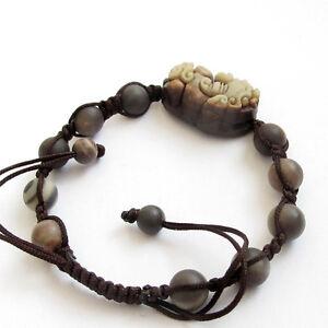 Natural-Stone-Happy-Lucky-Pixiu-Pi-Xiu-Tibet-Buddhist-Prayer-Beads-Mala-Bracelet