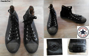 CHAUSSURES-BASKETS-MONTANTES-034-ALL-STAR-CONVERSE-034-EN-CUIR-GRAINE-BICOLORE-P-40-41