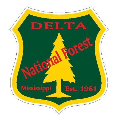 Delta National Forest Sticker R3226 Mississippi YOU CHOOSE SIZE