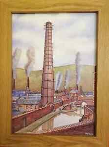 The Copperworks Landore Swansea 1902 - Watercolour Painting - Tony Paultyn