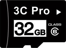 3C Pro 32GB microSD 32G microSDHC micro SD SDHC Card Class 6 C6 bulk w/SD adapte