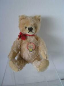 Vintage-Steiff-Original-Teddy-Bear-Gold-Mohair-with-Chest-tag-and-Ribbon-9-5-034