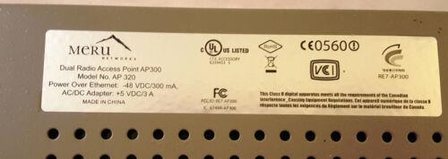 MERU Networks AP320 2.4 /& 5.0 GHZ Wireless Access Points AP PoE Antenna 10 LOT