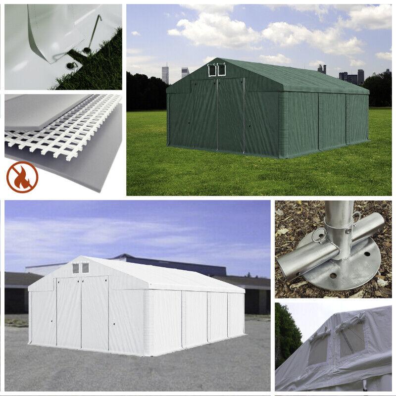 Lagerzelt 4x6 - 8x12m wasserdicht Pavillon Ganzjährig PVC feuersicher Garage