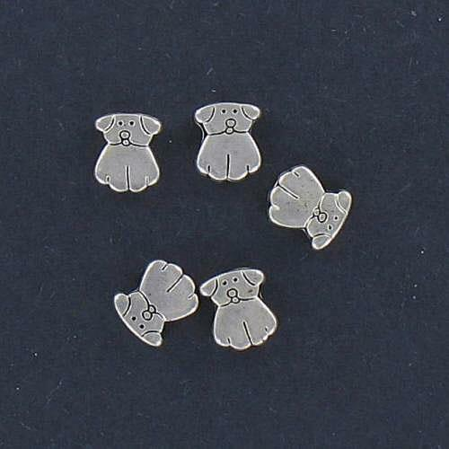 LOT of  5 PUPPY BEADS Perfect for Earrings