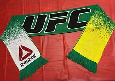 Reebok UFC Brazil Colors Green Yellow White Jacquard Knit Scarf Winter Fan Gear