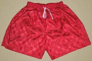 Augusta-Red-Checker-Nylon-Soccer-Shorts-Men-039-s-Small
