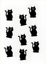 100 X SIZZIX DIE CUT BLACK CATS IDEAL for HALLOWEEN Free First Class Post