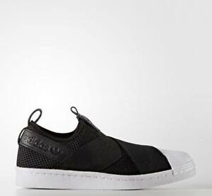 [Adidas] BY2884 Originals Superstar Slip On Men Women Running Sneakers Black