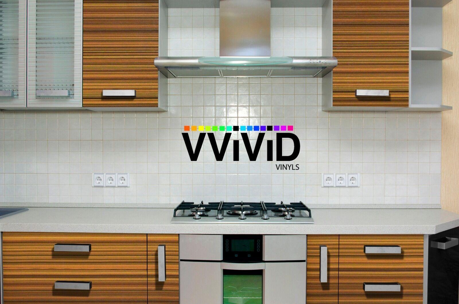 Striped Maple Wood Grain Vinyl Wrap DIY Home Office Furniture Film 75ft x 48