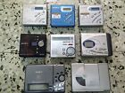 8 Sony and Sharp MD MZR500 MZNE410 MZR70 MZR37 Mini Disc Players Recorders lot