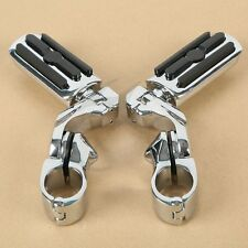 """Chrome 1.25"""" Highway Foot Pegs Pedals For Harley Touring Road King Street Glide"""