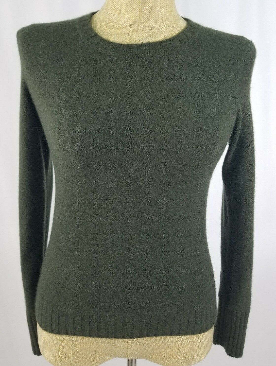 Ralph Lauren Green 100% Cashmere Size Small Long Sleeve Sweater Women's