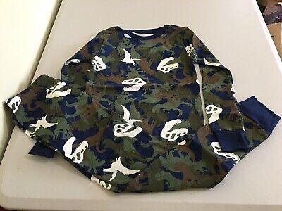 New Carter/'s Boys Dinosaur Pajama set Allover Snug Fit Long Sleeve Pants