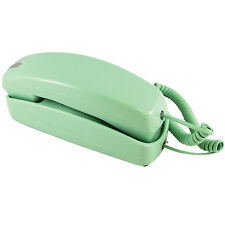 NEW Trimline Corded Telephone - Design From 60s With Modern Electronics (Green)