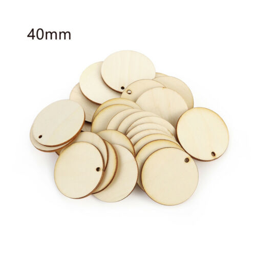 Slice Round Shape Hanging Pendant Wood DIY Craft Wooden Ornament Wood Piece