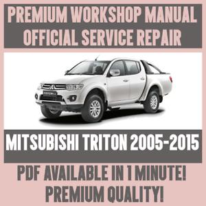 mitsubishi l200 complete workshop repair manual 2012 2013