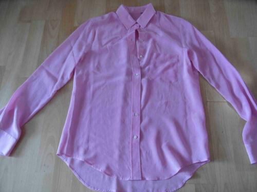 Hochwertige seidenbluse Bsu516 Rosa Designer Gr Top M rqTOrpwx