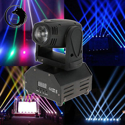 10W RGBW Mini Moving Head Light DJ Stage Disco Club Show Lights DMX US/EU/UK/AU