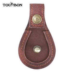 Tourbon-Shotgun-Barrel-Rest-Skeet-Trap-Shooting-Brown-Leather-Toe-Protector-Pad