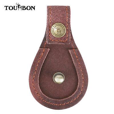 Tourbon Shotgun Barrel Rest Skeet Trap Shooting Brown Leather Toe Protector Pad