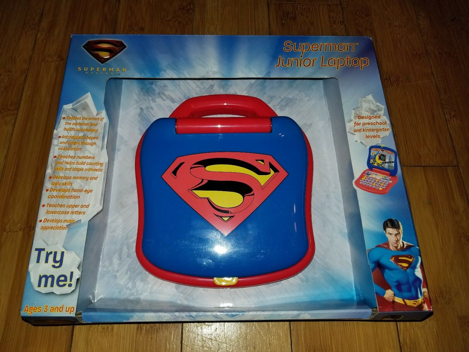 Superman Returns Kids Interactive Educational Learning Laptop Game Very Rare 1N