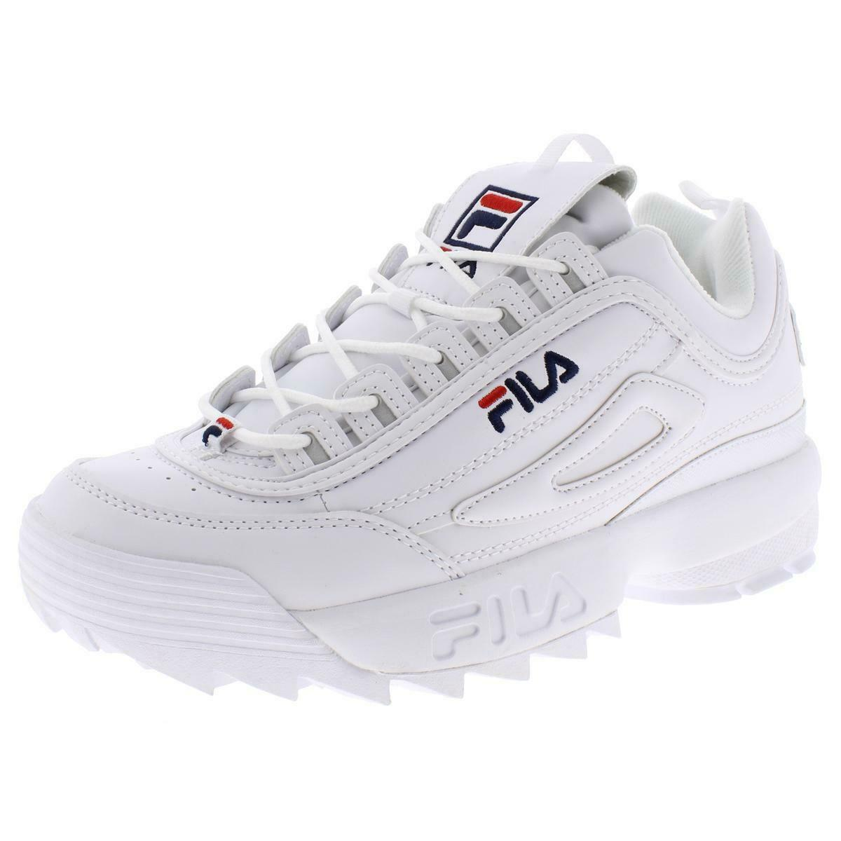 Fila Disruptor II 2 White Navy Red Mens Sneakers Shoes FW01655-111 Sizes
