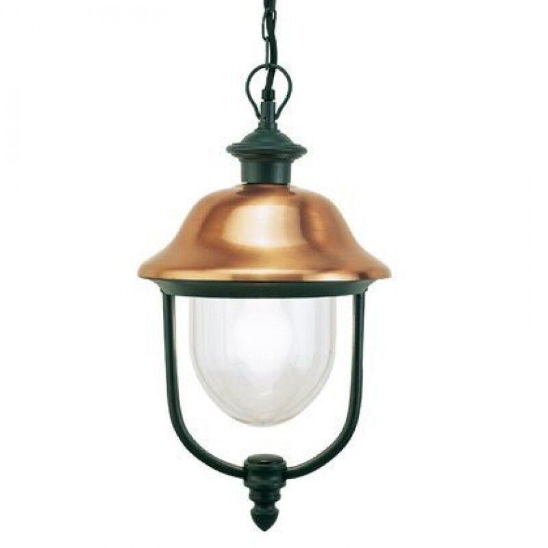LAMPADA A SOSPENSIONE ESTERNO E27 GRIGIO RAME SOVIL 195-14