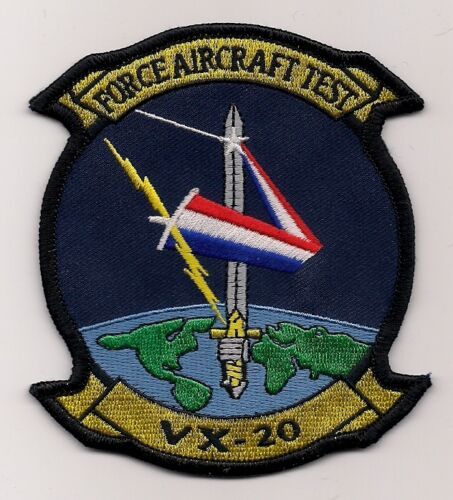 USN VX-20 FORCE AIRCRAFT TEST patch  TEST and EVALUATION SQN