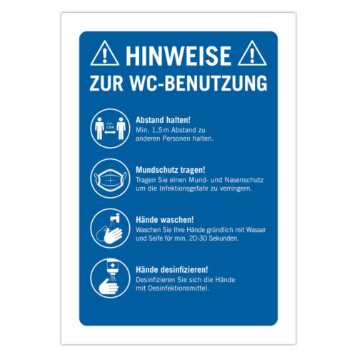 """10 PCS Sign /""""Toilet use/"""" Stand Off Sign A4 Hygiene Toilet protection"""