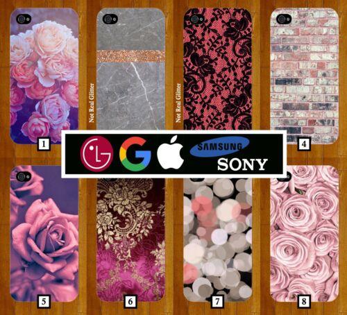 Funda Protectora De Teléfono De Oro Rosa Floral Brillo titular de la tarjeta de crédito tarjetas de pie 377