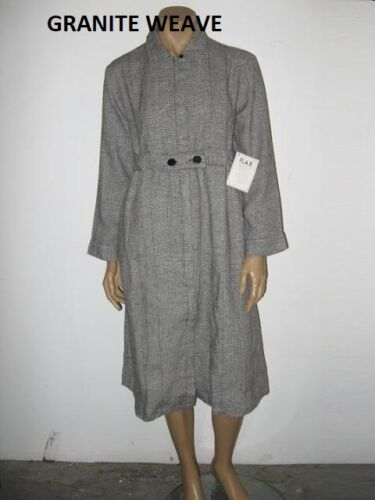 value NEW size L or M FLAX Linen ZIP SMOCK Dress//Duster 10 prints /& solids $100
