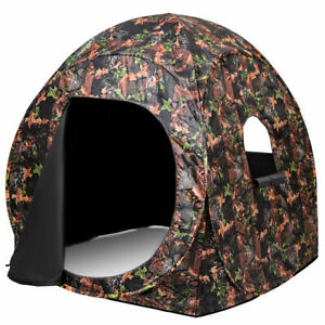 Portable-Hunting-Blind-Pop-Up-Ground-Camo-Weather-Resistant-Hunting-Enclosure