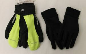 WATER RESISTANT NWT NEW BALANCE MEN/'S WIND BLOCKER SYSTEM GLOVE 2 in 1 WEATHER