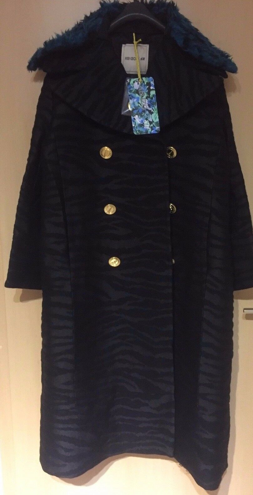 KENZO X H&M Mantel Wintermantel Coat EUR Größe 38 size US 8 size new
