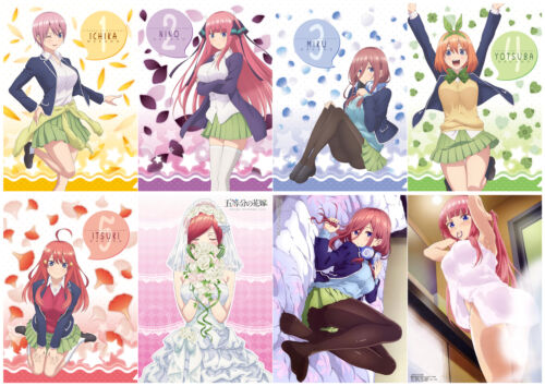 The Quintessential Quintuplets Polypropylene A3 8 Pieces Posters Wall Poster