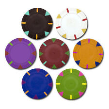 NEW 500 Blank Triangle and Stick 13.5 Gram Clay Poker Chips Pick Your Color Bulk