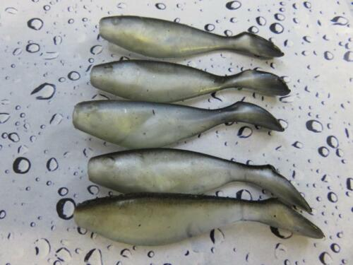 5 x 7cm BLACK ST SOFT PADDLE TAIL SHADS  SEA BOAT PERCH LRF COD BASS FISHING