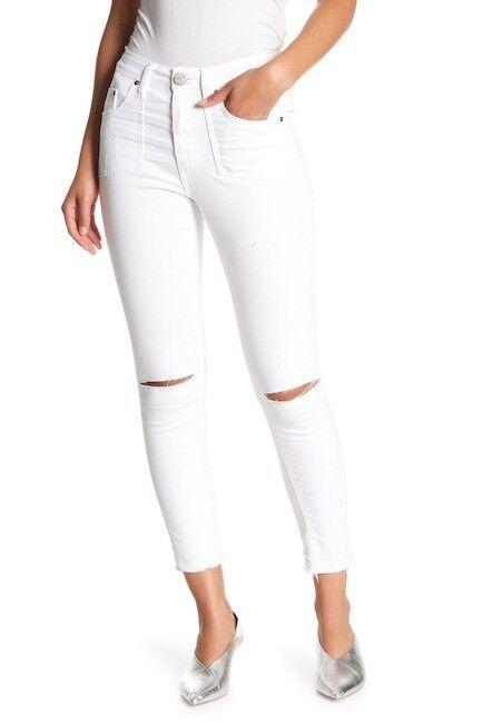 One by One Teaspoon Womens Size 26 High Waist Freebirds Raw Hem Skinny Jeans New