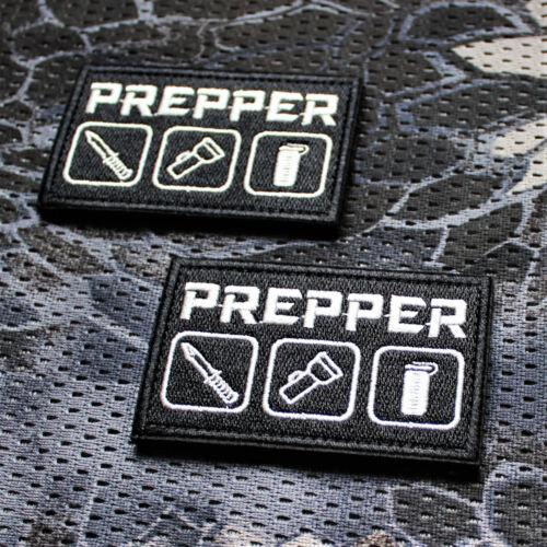Aufnäher Patch Klett Survival Endzeit Every Day Carry Prepper EDC Airsoft SHTF