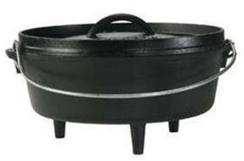 Lodge L12C03 Cast Iron 6 Quart Seasoned Camp Oven With Legs And Cover 18538