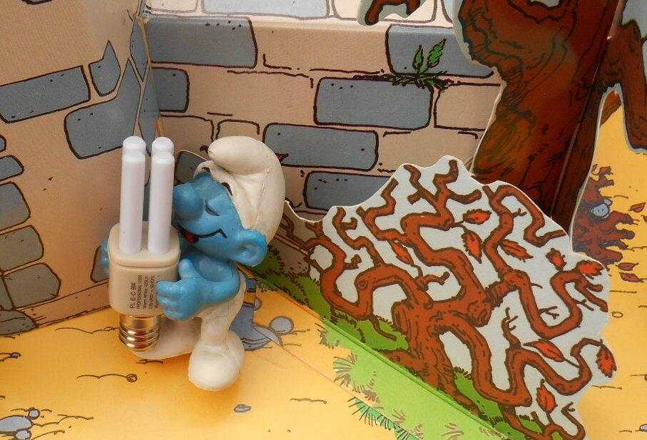 Philips  Schtroumpf publicitaire ampoule smurf pitufo puffo puffi rarissime rarissime rarissime bd6c6e