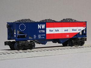 LIONEL-NORFOLK-amp-WESTERN-1776-COAL-HOPPER-o-gauge-train-freight-nw-6-82427-H-NEW
