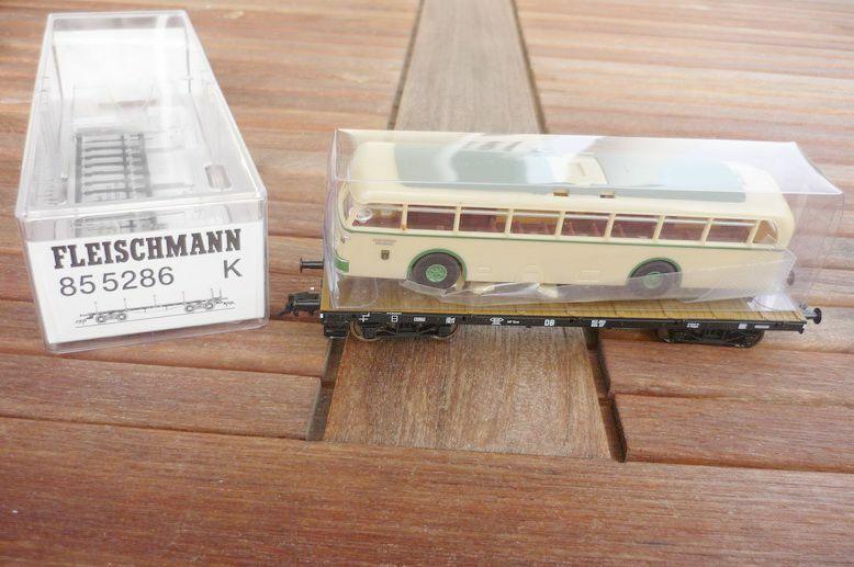 Fleischmann 85 5286 Vagone bilico Pesante Oberleitung -Trolley buss Db Epoca 3