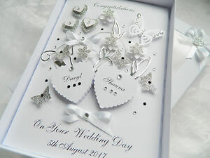 Details About Handmade Personalised Card Wedding Day Anniversary Engagement Gift Box 30