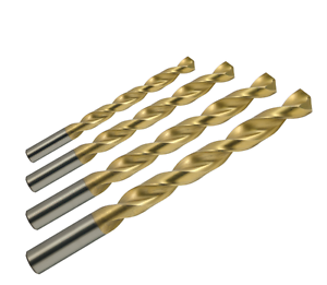 Pack of 1 Straight Shank YG-1 High Speed Steel Gold-P Jobber Drill Bit 12.3mm Diameter x 151mm Length TiN Finish Parabolic Spiral 130 Degree